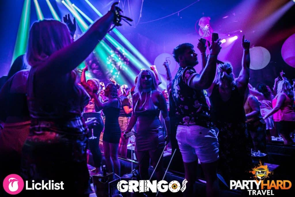 Bingo over, getting ready to party on the dance floor at Gringos Club