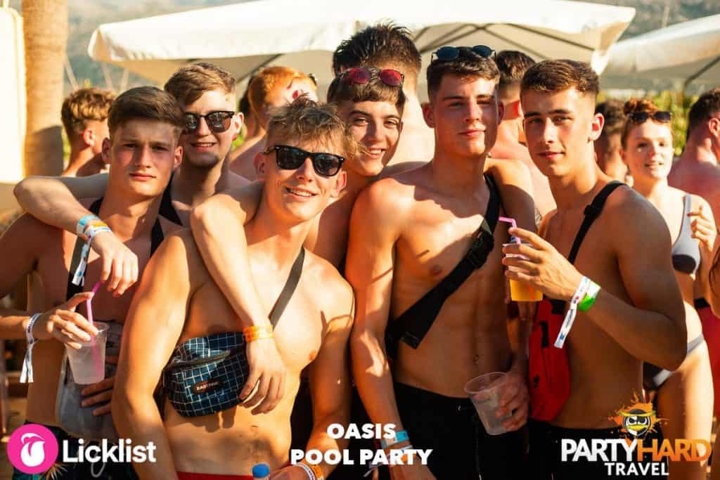 Lads Group Photo, Posing by the Malia Oasis Party Pool