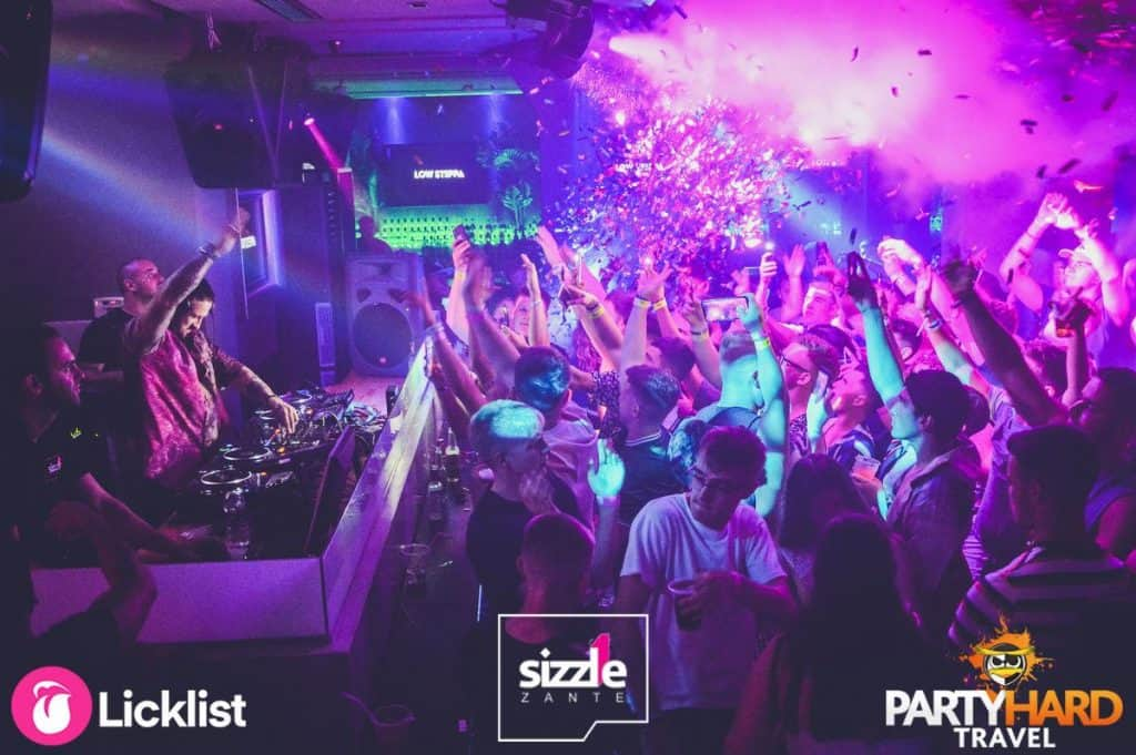 Exploding Confetti Cannons at Zanti Nightclub as DJ Mix the Banging House Tunes