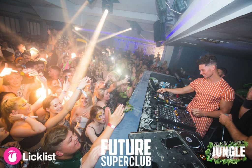 DJ Joel Corry Leading the Party on the Mixing Decks at the Leading Venue Future Club