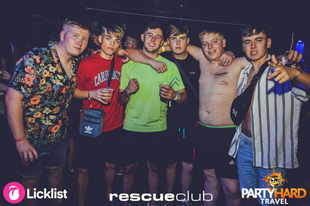 The Lads Holiday Snapshot Happy Night at Zante's Top Venue Rescue Club