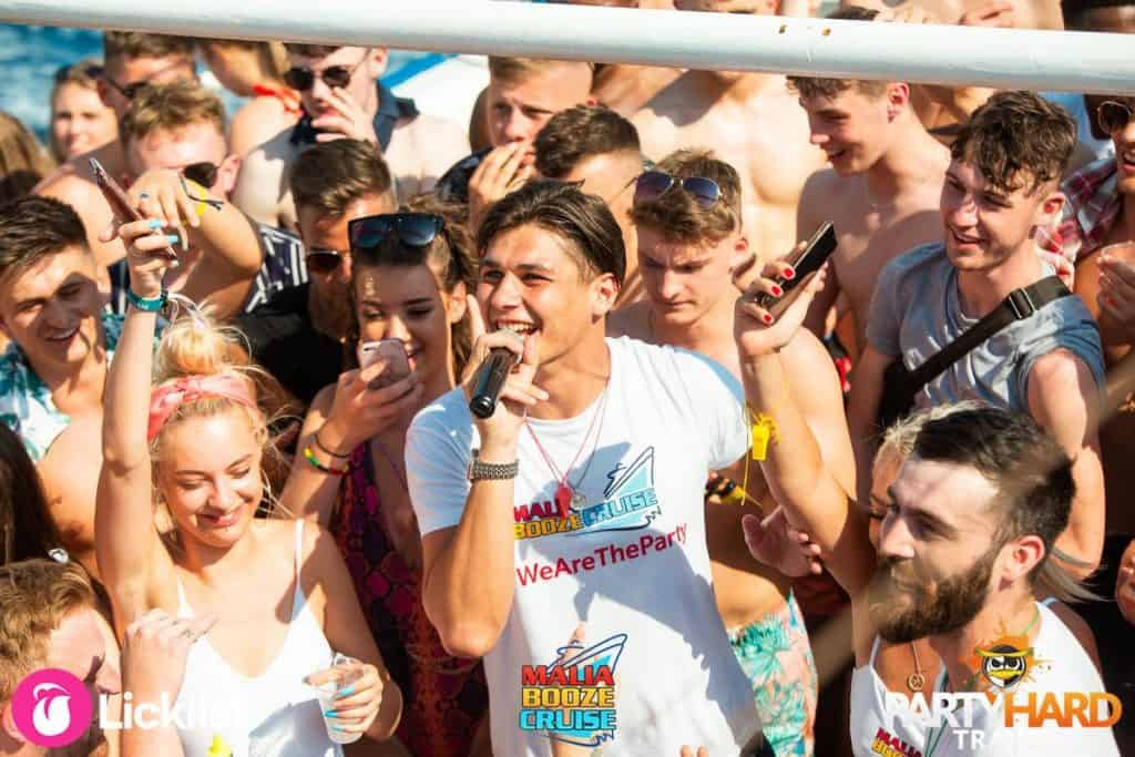 Master of Ceremonies Host Party DJ with the Lads and Girls on the Booze Boat