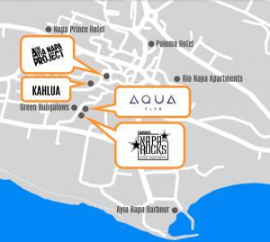 Ayia Napa nightlife map