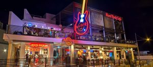 front of hard rock cafe in ayia napa
