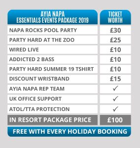 ayia napa essentials events package 2019