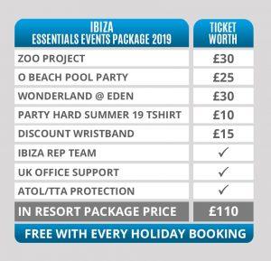 ibiza essentials event package 2019