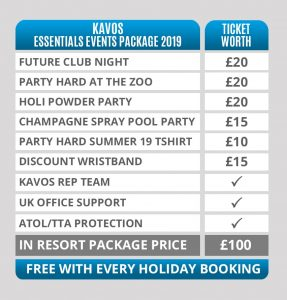 Kavos Essentials Events Package