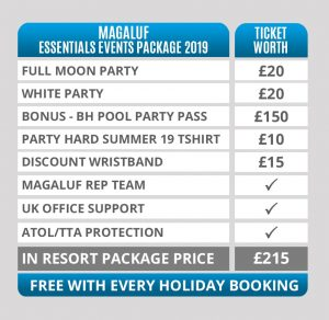 magaluf party hard essentials events package 2019