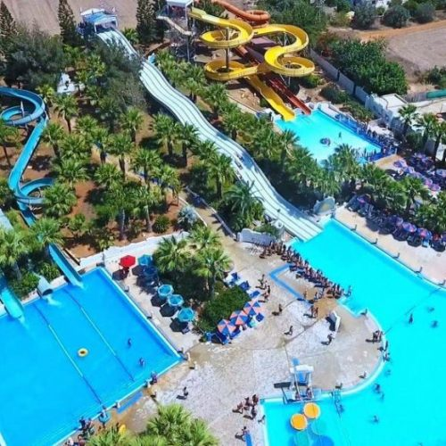 waterworld park in ayia napa bird's eye view
