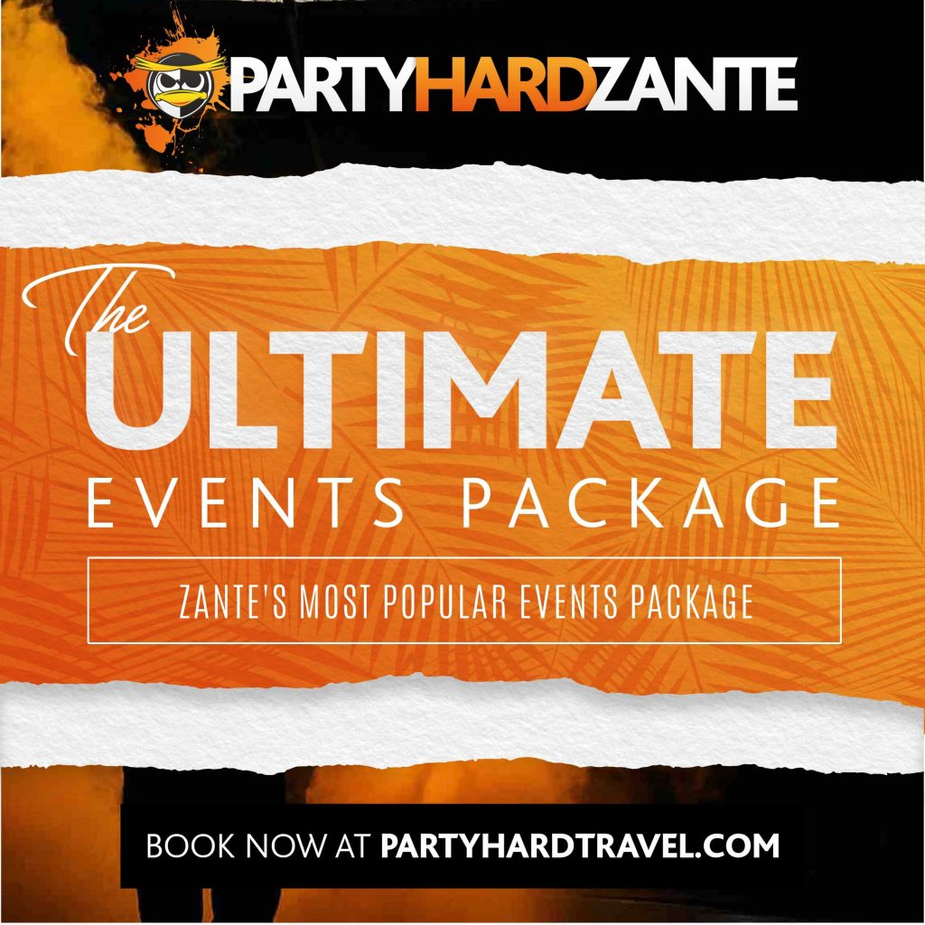 Zante Ultimate Events Package