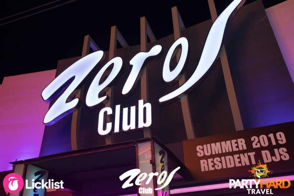 Zeros Club on the Zante Strip in the resort of Laganas
