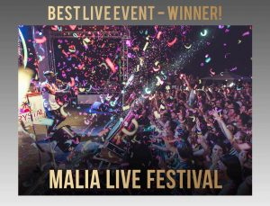 malia live festival winner of best live act