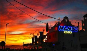 cafe mambo ibiza sunset edge of west end