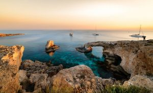 cape greco cliff and ocean in ayia napa