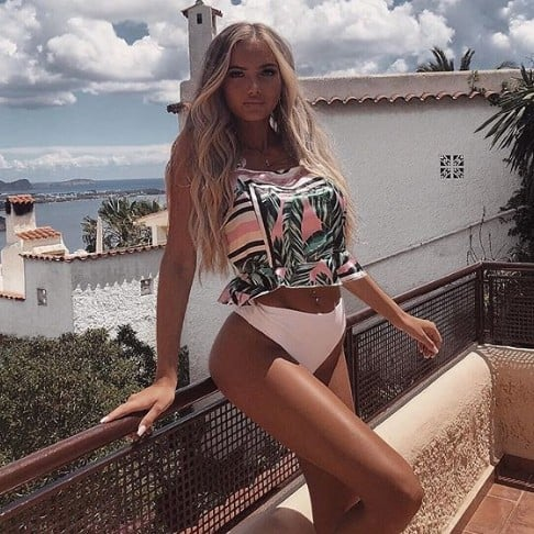 Daisy O'Donnell on holiday in Ibiza
