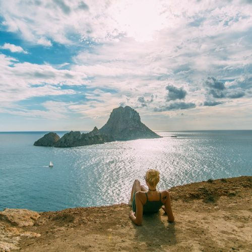 Looking out at Es Vedra Island