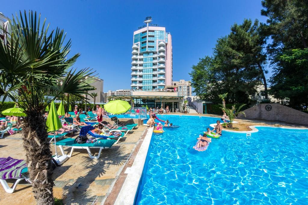 grand hotel pool in sunny beach