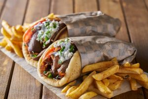 Generous Size Kebab Wraps with Chips From Big Bite to Eat