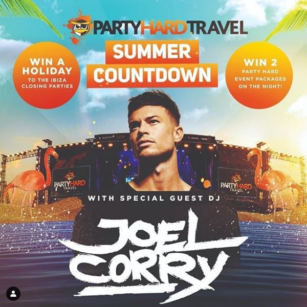 Joel Corry Ibiza competition