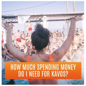 How much spending money do I need in Kavos? Partygoers enjoying the pool