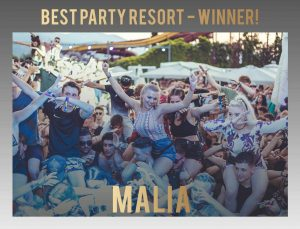 malia, winner of best party resort 2018