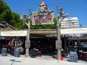 front of pirates beach bar and grill magaluf beach front