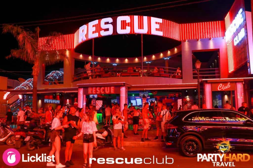 Rescue Club on the Zante Strip in the resort of Laganas
