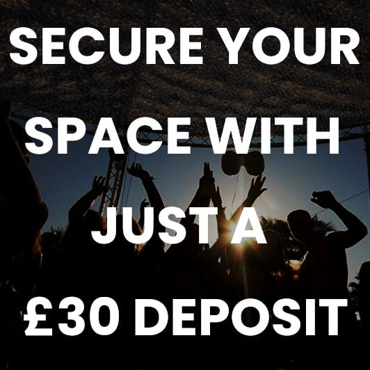 Secure your space with just a £30 deposit