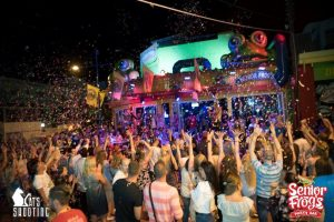 senior frogs bar in ayia napa large crowd