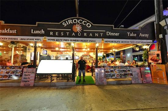 Sirocco Restaurant on the Zante Strip in the resort of Laganas