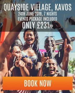 kavos special offer at quayside village - 7 nights - £231 pp