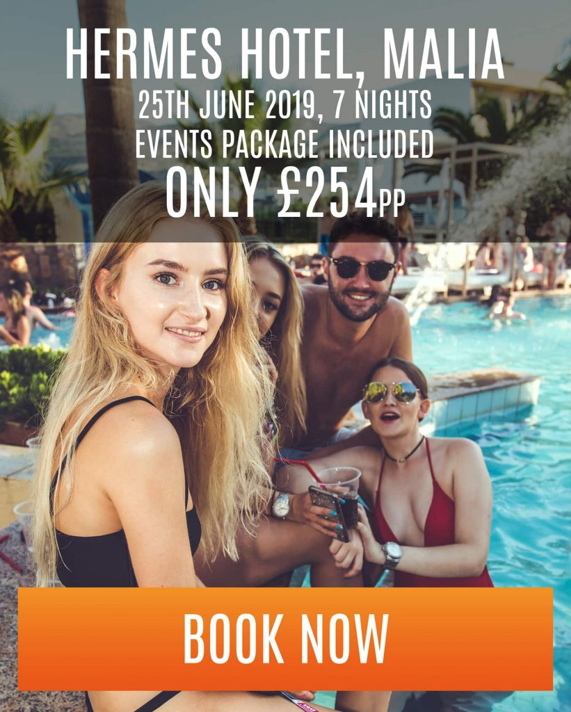 malia special offer at hermes hotel - 7 nights - £254 pp