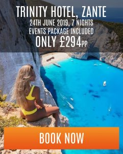 zante special offer at trinity hotel - 7 nights - £294 pp