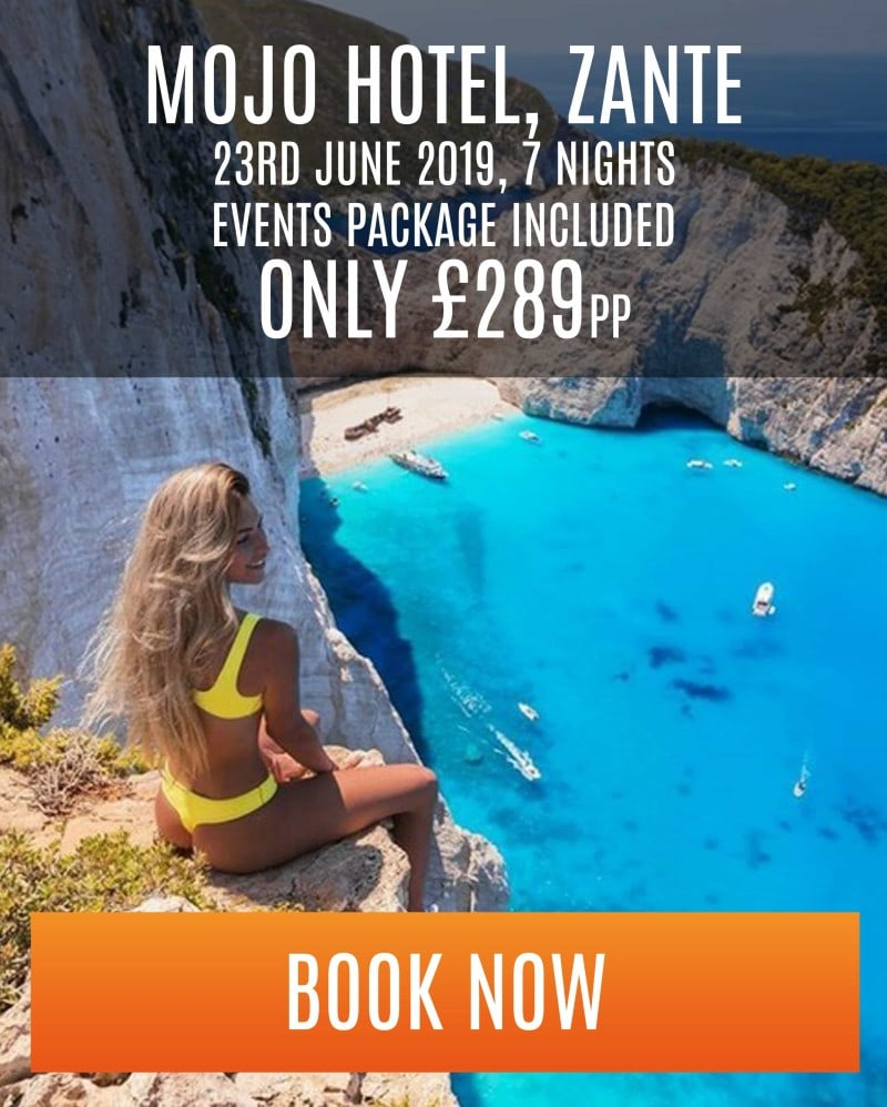 special offer for mojo hotel in zante - 23rd of june for 7 nights - £289pp