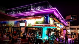 outside of the square bar in ayia napa