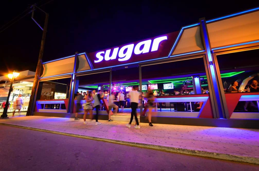 Sugar Bar on the Zante Strip in the resort of Laganas