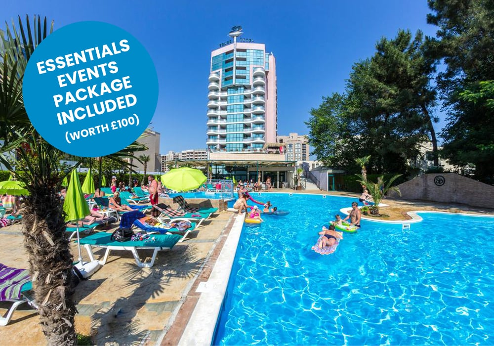 sunny beach - grand hotel STICKER TEST BLUE block