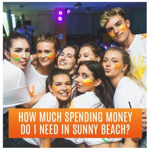 How much spending money do I need in Sunny Beach? Clubbers posing at club wearing face paint