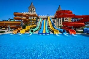 Adult Slides at the Sunny Beach, Aqua Paradise, Waterpark