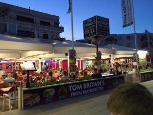 tom brown's pub magaluf strip