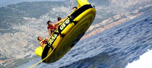 watersports in magaluf, crazy ufo ride in midair