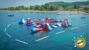 water funpark on kavos beach