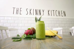 Fresh Fruit and Vegetables on Dining Table at the Skinny Kitchen