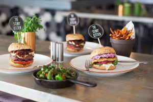 Healthy Burgers, Fresh Vegetables from the Skinny Kitchen