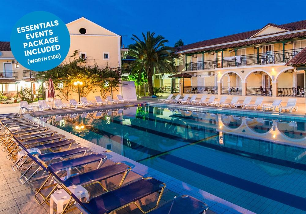 zante - perkes hotel new blue sticker